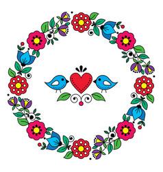 scandinavian nordic valentines day design vector image