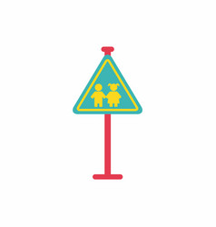 school warning road sign kids road symbol vector image