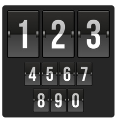 Scoreboard with numbers vector