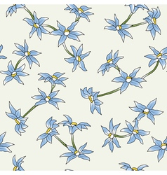 seamless a blue flowers vector image