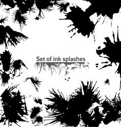 set ink splashes vector image