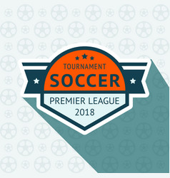 Soccer cup badge vector