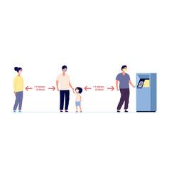 social distance safe self precautions infographic vector image