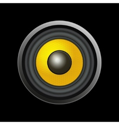 Speaker Isolated on Black Background vector image