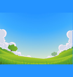 Spring and summer landscape - wide angle vector