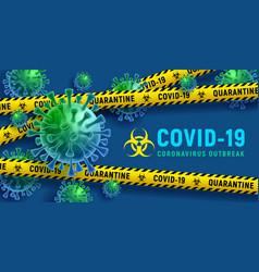 stop coronavirus covid-19 disease outbreak vector image