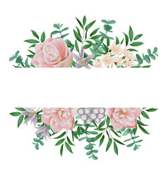 Template with pink flowers vector