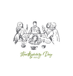 Thanksgiving day concept sketch isolated vector