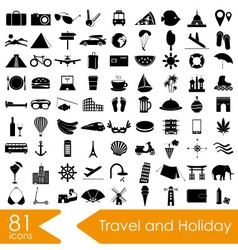 Travel and holiday big set of icons eps10 vector