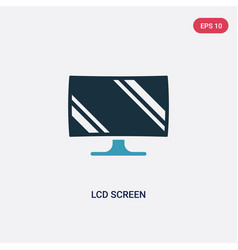 two color lcd screen icon from technology concept vector image