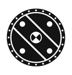 Unique shield simple icon vector image
