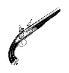 Vintage pistol 0001 vector