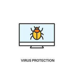 Virus protection icon vector