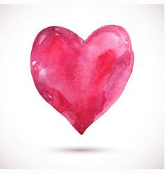 Watercolor-heart-pink vector
