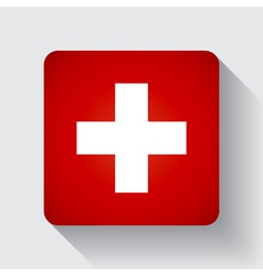 Web button with flag of Switzerland vector