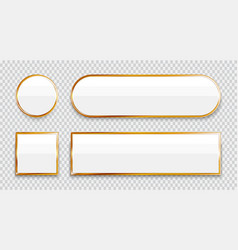 White glossy buttons vector