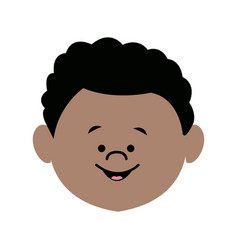Young boy child people character male vector