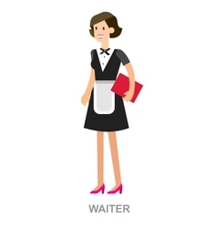 Young handsome waiter vector