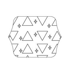 Edge quadrate with memphis style geometric design vector