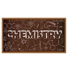 School board doodle with chemistry symbols vector image