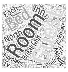 ashville north carolina bed and brekfast Word vector image vector image