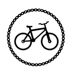 bicycle sport emblem icon vector image