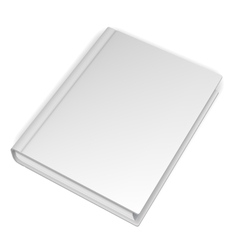 Empty White Book vector image vector image