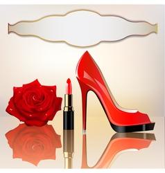 Lipstick Rose Background vector image