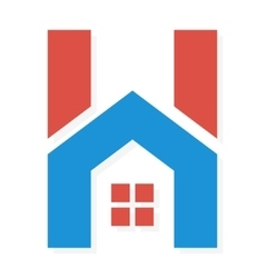 Logo combination of H letter and house vector image