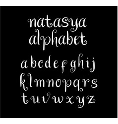 natasya alphabet typography vector image vector image