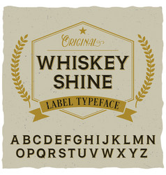 whiskey shine poster vector image