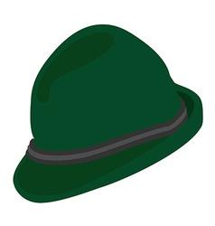 Green german hat vector image vector image