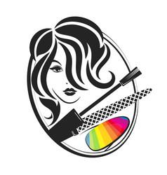 manicure salon for women vector image