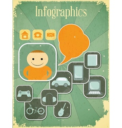 people infographics vector image