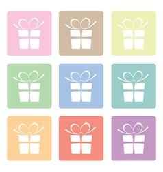 presents pastels vector image vector image