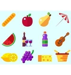 Summer picnic icon vector image