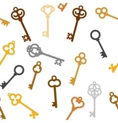vintage skeleton keys vector image vector image