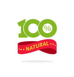 100 natural green and red label stamp or vector