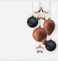 3d christmas balls for holiday new year design on vector image