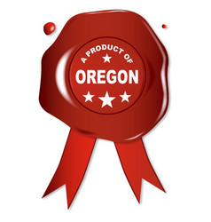 a product of oregon vector image