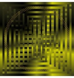 Abstract grid circle green background vector