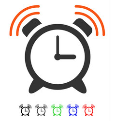 Alarm clock ring flat icon vector