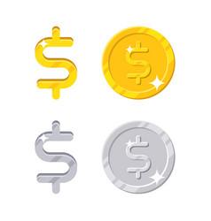 american dollar sign vector image