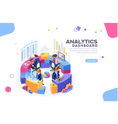 analytics dashboard template banner vector image