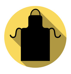 Apron simple sign flat black icon with vector