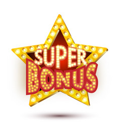 Banner super bonus star vector
