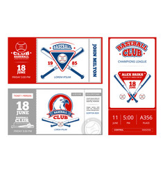 Baseball sports ticket design with vintage vector
