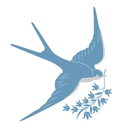 Blue swallow vector