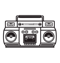 boombox cassette players design element vector image