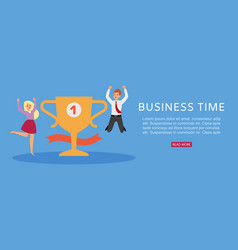 business time banner profitable website vector image